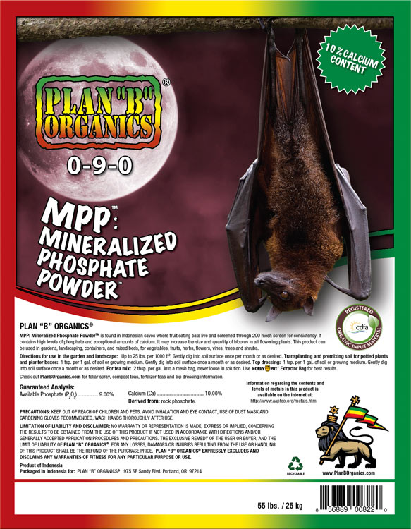 "Plan ""B"" Organics™ MPP: MINERALIZED PHOSPHATE POWDER"